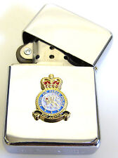 RAF ROYAL AIR FORCE POLICE WINDPROOF CHROME PLATED LIGHTER