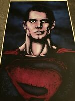 Superman Henry Cavill Print 11 x 17 signed by artist Kenny Keen