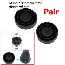 2Pcs Rubber Seal Cap Dust Cover For Car Headlight LED HID Halogen Kit Universal