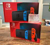 Nintendo Switch V2 32GB Gray Console with Neon Red and Blue Joy-Con IN HAND FAST
