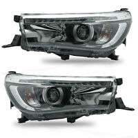 Dual Beam Projector LED DRL Sequential Headlights for 16-19 Toyota Hilux