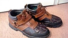 "POLO RALPH LAUREN, MEN'S SZ 10.5 D, ""CONQUEST II"", Strap Zip Up Ankle Boots"