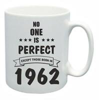 57th Novelty Birthday Gift Present Tea Mug No One Is Perfect 1962 Coffee Cup