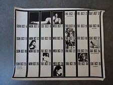 Vtg MOD Photo Art Commercial Studios PORTLAND Calendar RETRO MCM 70s 16X20 Women