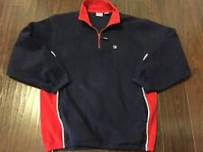 Vintage Fila Quarter Zip Fleece Jacket Size M Rare Color Block Red Blue Zip EUC