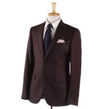 NWT $1900 BOGLIOLI 'Sforza' Chocolate Brown Patterned Wool Suit 38 R (Eu 48)