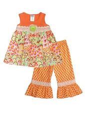New Girls Boutique Peaches n Cream sz 5 BOHEMIAN BLOOMS Capri outfit set Summer