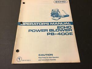 Echo Power Blower PB-400E Operator's Manual