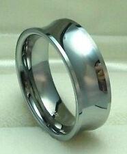MEN 8mm Titanium ring Concave Wedding Band High Polished size 9.5