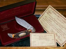 Schrade 275 Sterling Knife 1979 75th Anniversary Clasp W/Presentation,Papers