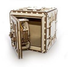 Ugears Safe Box Mechanical Wooden Model KIT - 3D puzzle, Self Assembling