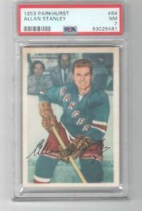 1953 Parkhurst Allan Stanley # 64 PSA 7 New York Rangers