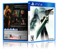 Final Fantasy VII: Remake - REPLACEMENTPS4 Cover & Case. NO GAME!!