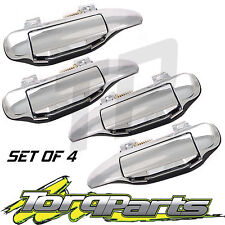 DOOR HANDLES CHROME OUTER SET OF 4 SUIT GU PATROL NISSAN 97-12 Y61 4X4