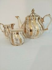 Beautiful antique art nouveau Sadler teapot with sugar and creamer no 2822
