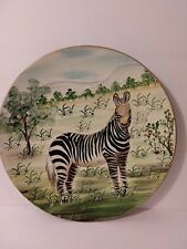 """MAYRICH Decorative Zebra Plate Home Decor Collection Hand Crafted 10.5"""""""