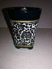 Ceramic Tommy Hilfiger Signature Etched Decorator Bathroom Cup 10oz