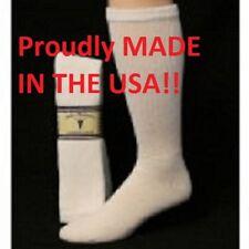 White Diabetic Socks Over the Calf Socks Sole Pleasers Brand Pair size 13-15