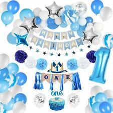 67PCS Birthday Decorations Baby Boy 1st Birthday Party Supplies Bliue Balloon