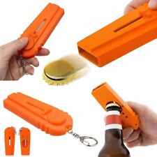 Flying Beer Drink Bottle Opener Cap Launcher Top Shooter Gun Key Ring Gift Tool
