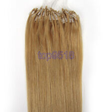"""16-26"""" Micro Ring Beads Easy Loop Tip Ombre Remy Real Human Hair Extensions 1g/s"""