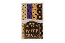 Make Your Own Halloween Bunting 10M 200 Piece Paper Chain Kit Witch Bat Pumpkin