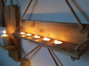 Industrial Cable Drum Stave - Farmhouse Rustic Wooden Tea light Candle Holder