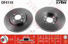TRW Front Pair Brake Discs DF4110 - BRAND NEW - GENUINE - 5 YEAR WARRANTY