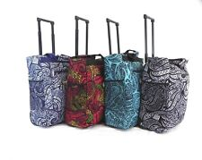 EASYJET RYANAIR APPROVED LIGHT WEIGHT CABIN BAG WITH WHEELS& HANDLE 50X35X20cms
