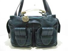 Auth Chloe Saskia BlueGreen Leather Handbag