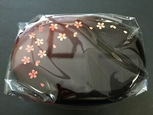 HAKOYA Lunch Bento Box 50093 Akane Madder Red Sakura Oval MADE IN JAPAN
