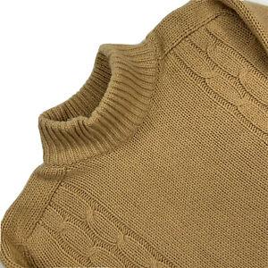 Vintage Large  R. Watson Hogg Ltd 100 % Cashmere Cable Knit Turtle Neck Scotland