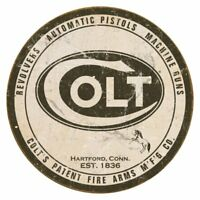 Colt Round Logo Vintage Retro Tin Metal Sign 12 x 12in