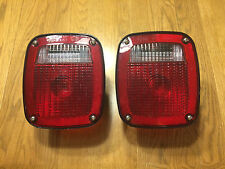 Pair-Grote 5370 5371 Ford RV/trailer/truck tail lights w/bulbs
