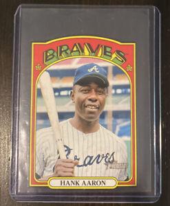 Topps Heritage 2021 Baseball Hank Aaron Die Cut #72DC-20 Insert