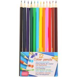 Set de 12 Crayons de Couleur  Coloriage Dessin Kids Créative