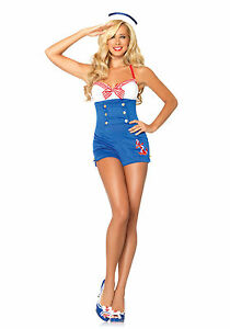 High Seas Honey Sailor Costume for Women size XS New by Leg Avenue 83638