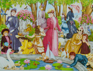PUZZLE......JIGSAW...SOLOMON...Aunt Josephine Visits The Park...1000.Pc...Sealed