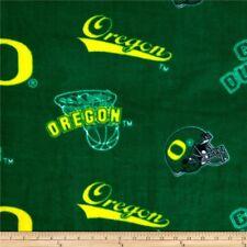 "Fabric University of Oregon Green Ducks Helmets Fleece 1.417 Yards x 60"" w NEW"