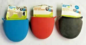 (NEW) Gourmet Club Silicone Oven Stove Rack - Mini Mitt Pot Grabber 3 Colors