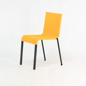 2019 Maarten Van Severen .03 for Vitra Side Chair in Orange with Black Legs