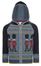 Monsoon Boys GERRARD GUARD Zip Through Hooded Cardigan - NAVY Age 5-6 Years