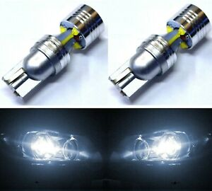 LED Light 30W 194 White 6000K Two Bulbs Rear Side Marker Parking Replace Fit