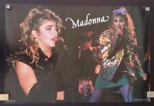 MADONNA THE VIRGIN TOUR POSTER  25-5-1985 LIVE IN DETROIT USA