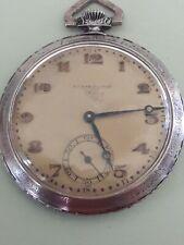 Vintage ERNST pocket watch , nickel chrome,15 jewels, Swiss made