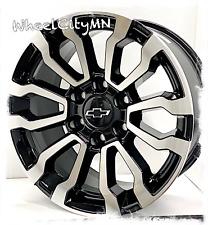 18 Inch Gloss Black Machine 2021 At4 Oe Replica Rims Chevy Silverado 1500 6x55