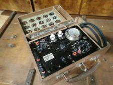 Ancien lampemètre de collection bois pour tsf. Radio contrôle lyon