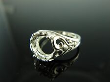 5811 Ring Setting Sterling Silver Size 6.25, 9 mm Round Gemstone