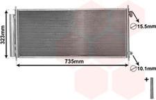 Kondensator, Klimaanlage für Klimaanlage VAN WEZEL 25005222
