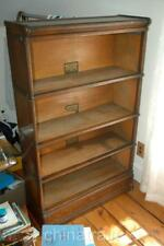 Antique Globe Wernicke Stacking Barrister Bookcase 4-Section D-8 1/2 No Doors